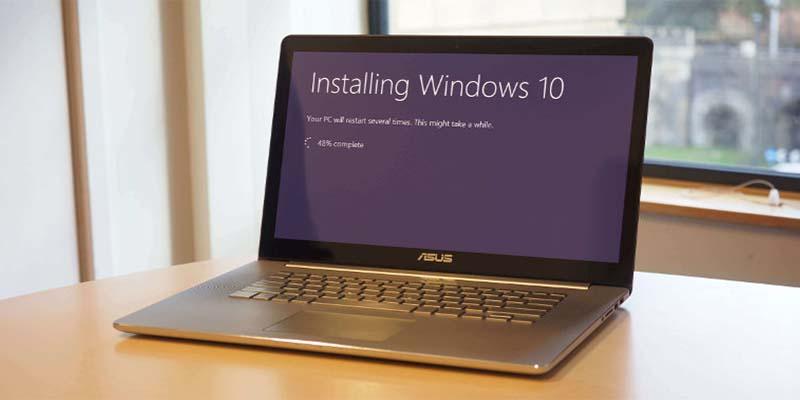 نصب ویندوز در لپ تاپ ایسوس