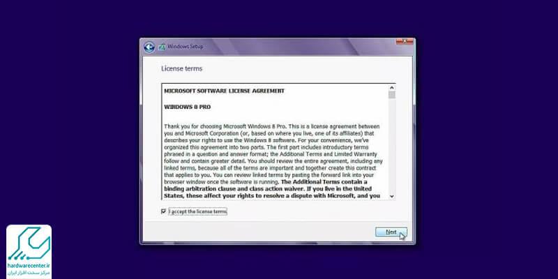 مراحل نصب ویندوز 8 در لپ تاپ ایسوس